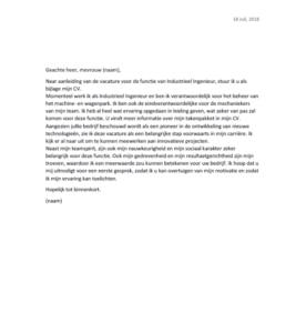sollicitatiebrief ingenieur Een sollicitatiebrief schrijven   Voorbeelden en tips | StepStone.be sollicitatiebrief ingenieur